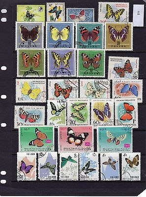 Thematic Stamp Selection Butterflies 2