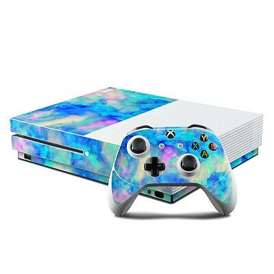 NEW Vinyl Skin for Xbox One S Console + Controller Ice Blue Sticker Decal