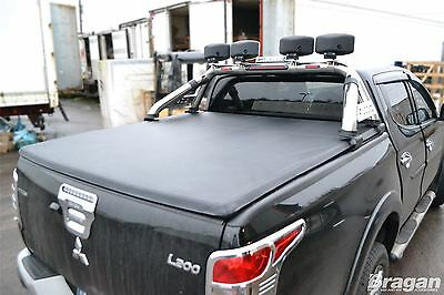 2015+ Mitsubishi L200 Double Cab Tri Fold Soft Tonneau Cover Short Curved Bed