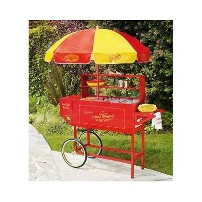Mobile Hot Dog Stand Tailgating Cart Grill Food Home Party Picnic Bbq Work Cater