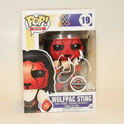 STING SIGNED FUNKO POP VINYL  WCW WWE WOLFPAC GameStop EXCLUSIVE COA - RETIRED