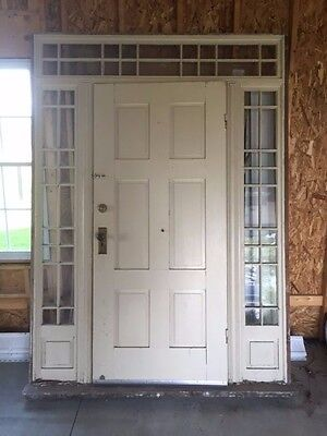 Antique/Vintage entry door with sidelights & transom