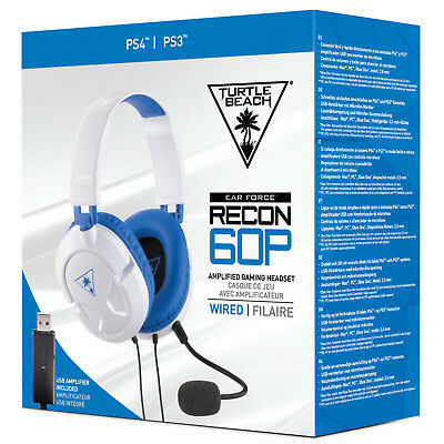 Turtle Beach Ear Force Recon 60P White Headset for PlayStation 4 PS4 Gaming NEW
