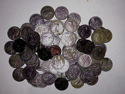 Joblot of 108 British Sixpence Coins