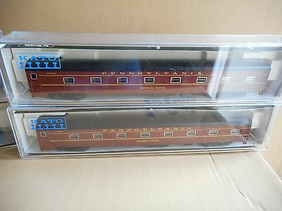 N Gauge coaches Kato PRR Broadway Limited 4 car add on set