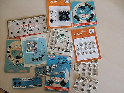 Vintage selection press studs (snap fasteners)
