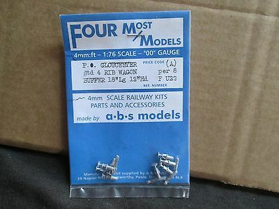 "Four Most Models P.o.gloucester Std 4 Rib Wagon Buffers 18"" Long New In Bag"