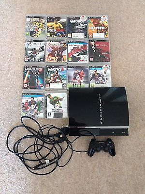 Sony PlayStation 3 60GB Black Console plus + 14 Games (Including FIFA 17)