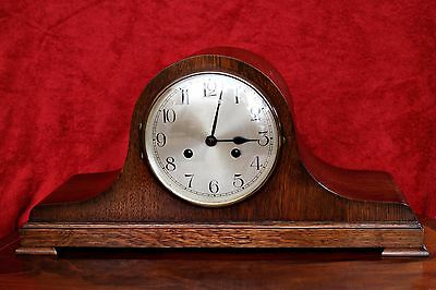 Vintage German 'WURTTEMBERG' Art Deco 8 Day Mantel Clock with Chimes and Key