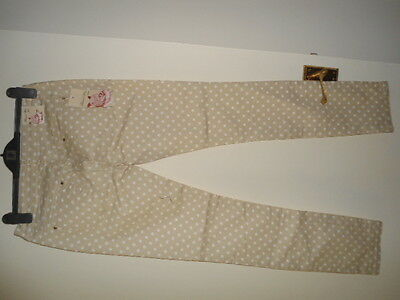 Ladies Brand New Beige Spotted Skinny Jeans size 14