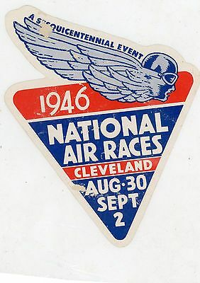 1946 Cleveland National Air Races Sticker Decal
