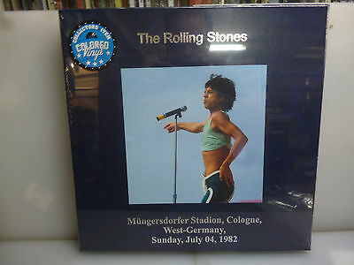 Rolling Stones-Cologne, Germany 1982-3Lp Blue Vinyl Hardcover Boxset.-New Sealed