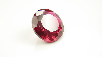 1.0CT (6.5mm) Round Cut RUBY RED My Russian Diamond Simulant Lab Created Loose