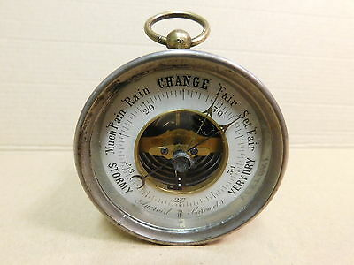 Antique table or hanging Aneroid Barometer – British – DA/42A