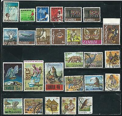 Zambia - 27 stamps mixed - Years 1964 to 1987
