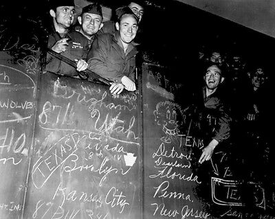 New 8x10 World War II Photo: First War Veterans to Go Home, Heading to France