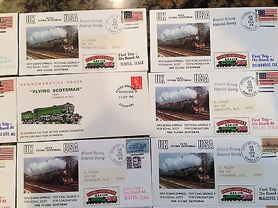 Flying Scotsman (4472) Commemorative Railway Covers Carried on Board – Lot of 16