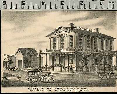 Broadway House Hotel in Rochester, Minnesota: Authentic 1874 View