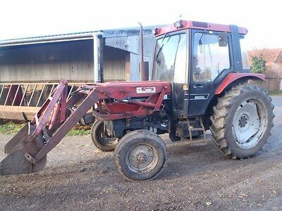 Case 885XL 2wd Tractor fitted with Quicke fore end power loader Air conditioning