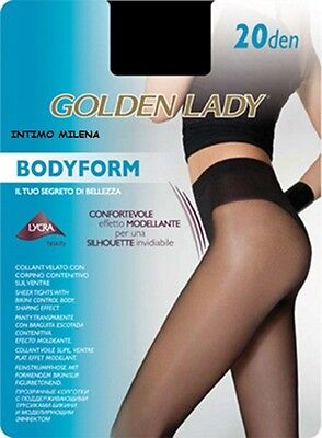 5 Paia Collant Bodyform 20 Golden Lady Taglia 3  Colore Nero