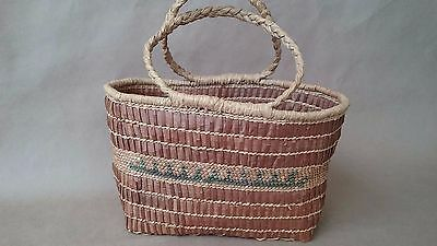 Native American Indian Northwest Makah Basket Basketry Purse Neah Bay Pacific NW