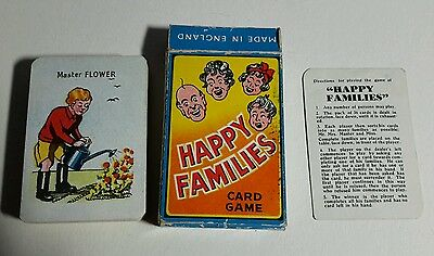 Vintage 1940/50s Happy Families Card Game