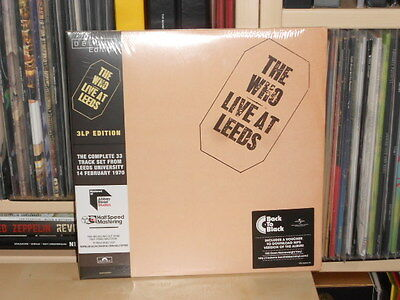 THE WHO * Live at Leeds * 3 LP Deluxe Edition - Half Speed Mastering 180gram NEU