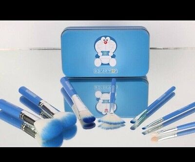 Kawaii Collector Love Doraemon 7 pcs Make-up Brushes Cosmetic Brush Set / Blue