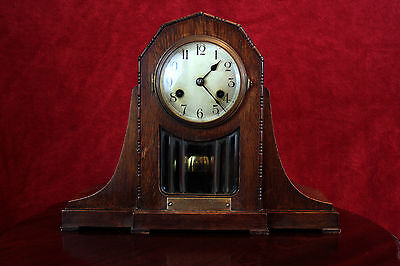 Antique Rare ART DECO KIENZLE Chiming Mantel 8 Day Clock 1922