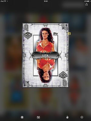 WWE Topps Digital trading card Silver Queen Of The Ring Award Lita