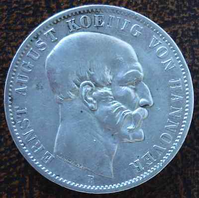 GERMAN STATES - HANNOVER: Silver Thaler 1848B XF (2204)  SALE!!!!!!!