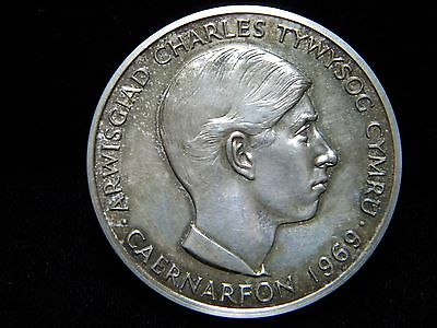 1969 PRINCE OF WALES INVESTITURE MEDAL***STERLING SILVER***2.27 oz.***DO