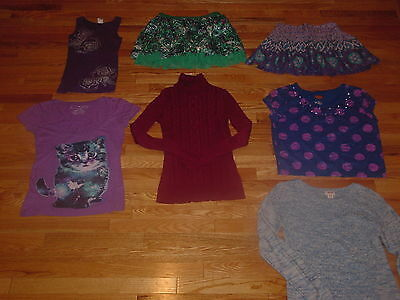 Girl's Size 12/14 Clothing Lot of 7 Justice and More!!