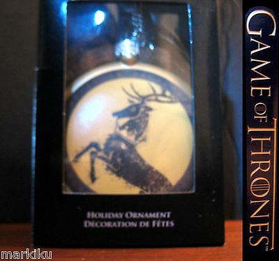 Game of Thrones Baratheon deer Christmas tree holiday ornament FLAT