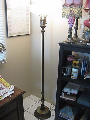Rare Beautiful Antique Old Hollywood Hollywood Regency Style Floor Lamp