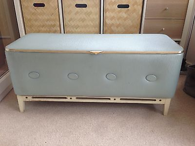 Vintage Retro 1950/60s Blue Ottoman / Blanket Box / Chest / Storage