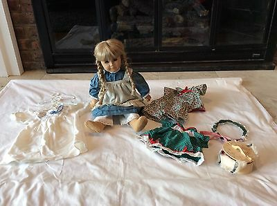Retired American Girl Doll Kirsten With Outfit and Accessories