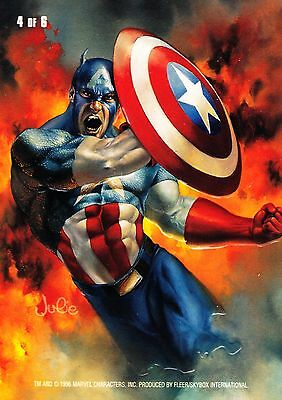 1996 Marvel Masterpieces Double Impact #4 CAPTAIN AMERICA NM Rare! Last One!