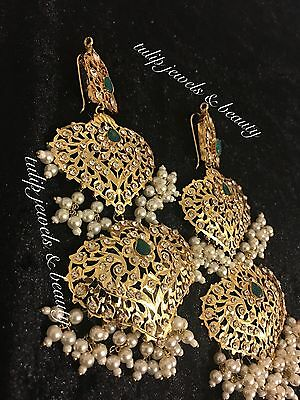 Hyderabadi Nazam/ Mughal Style bollywood  magar / earrings jewellery Gold Plated