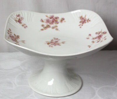 Marx & Gutherz Carlsbad Austria Pink Floral Compote