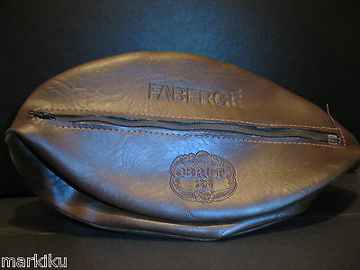 Rare Vintage New Old Stock Brut 33 Faberge shaving pouch case Brown Vinyl