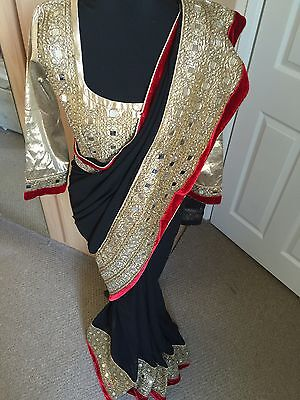 Designer Bollywood Indian Wedding Eid Mendhi Saree/sari