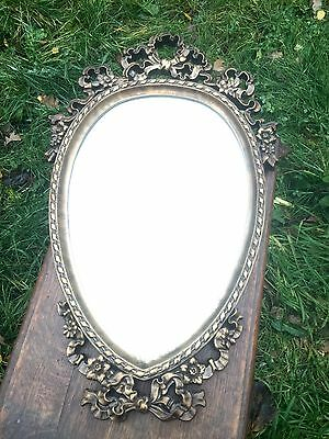 Lovely Oval Glass Mirror, Gilt Frame, Wall Hanging, Home Decoration