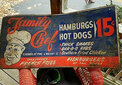Antique Vintage Double sided Sign huge!! Store Scarce