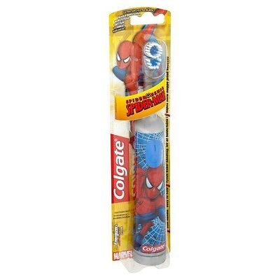 Colgate Spiderman Battery Powered Electric Toothbrush Great Christmas Gift