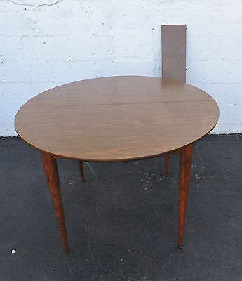 Mid-Century Dining Table with 1 Leaf by Keller 7135A