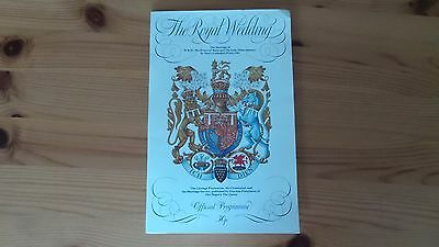 Royal Wedding Programme  Charles Diana 1981
