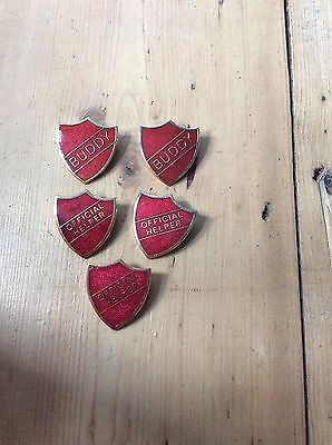 Vintage School Badges X 5