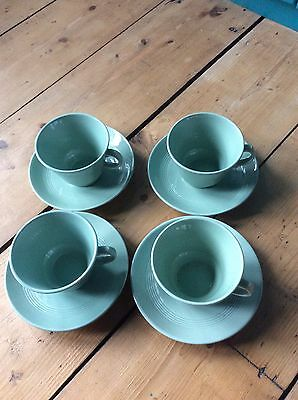 Beryl Ware 4 Cups And Saucers