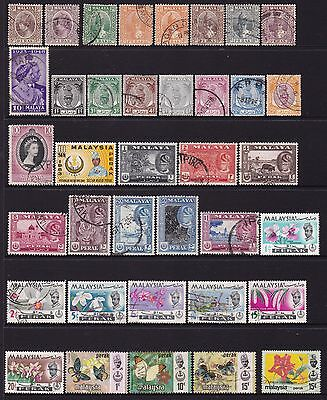 Federated Malay States Perak Stamps all different